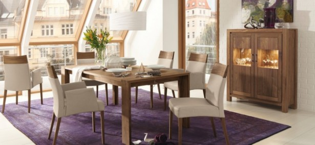 Modern Dining Arm Chairs Purple  Carpet Modern Dining Rooms