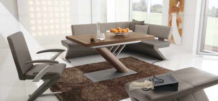 Modern Dining Banquette Brown Rug Modern Dining Rooms
