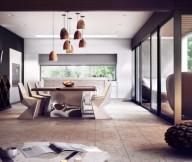 Modern Dining Room Unique Lamps  Brilliant Design Work