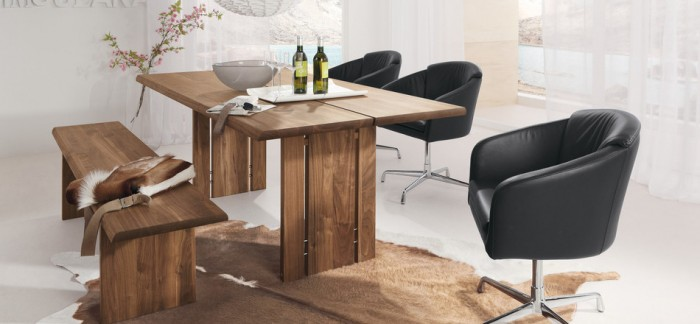 Modern Dining Rooms Rustic Modern Dining Table Creame Carpet