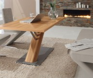 Modern Dining Rooms White Leather Dining Set Stone Fireplace