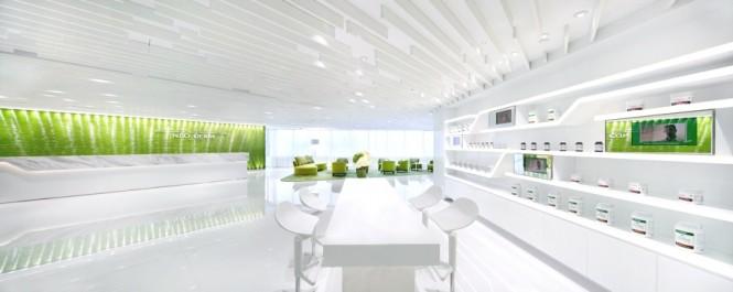 Modern Green White Decor Green Office Inspiration