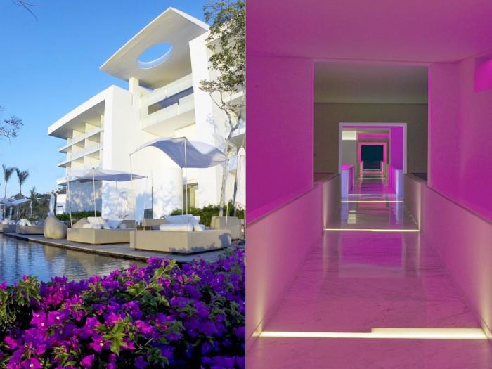 Modern Hotel Encanto For Pink Exterior Flowers Garen