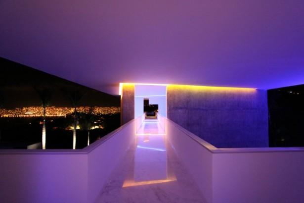 Modern Hotel Encanto Purple Lightng White Wall