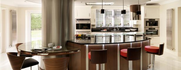 Modern Kitchen In Wood Tones Kitchen Island Designs