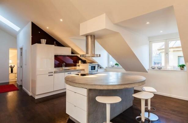 Modern Kitchen White Stunning Modern Stockholm Apartment Wooden Floor