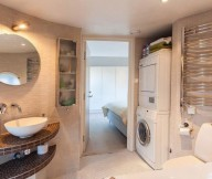 Modern Laundry Room Round Mirror Stunning Modern Stockholm Apartment