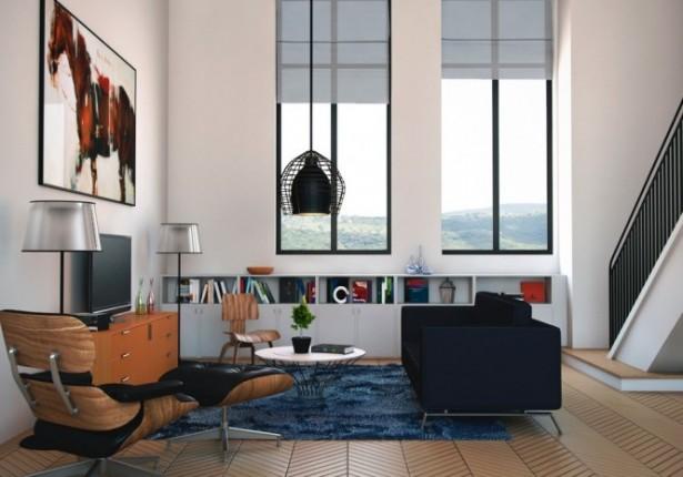 Modern Living Room Decor Black Lamp Modern Living Rooms