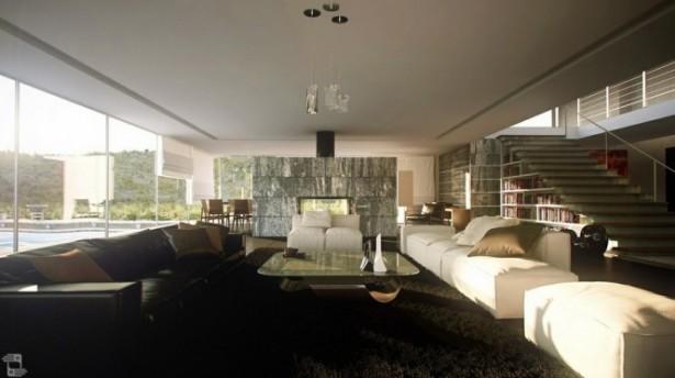 Modern Living Rooms Black White Living Room White Ceiling