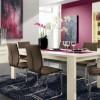 Modern Pink Dining Room Modern Dining Rooms Old Grey Rug