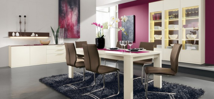 Modern Pink Dining Room Modern Dining Rooms Old Grey Rug