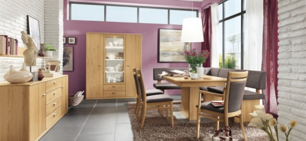Modern Purple Dining Room Modern Dining Rooms Grey Floor