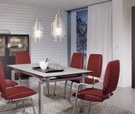 Modern Red Dining Furniture Grey Drawers Modern Dining Rooms