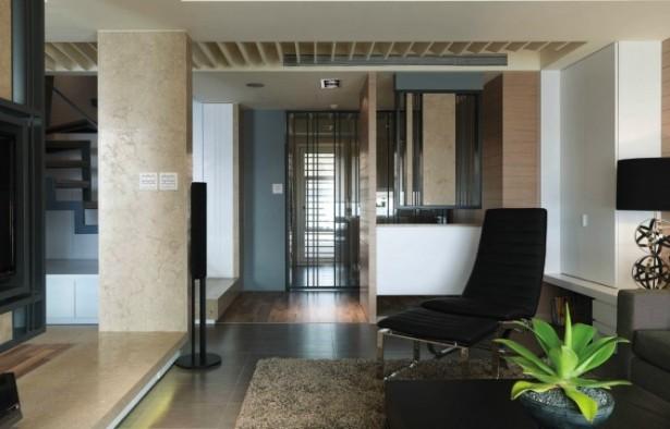 Modern Semi Minimilist Design Living Room Side View Two
