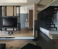 Modern Semi Minimilist Design Living Room Tv View