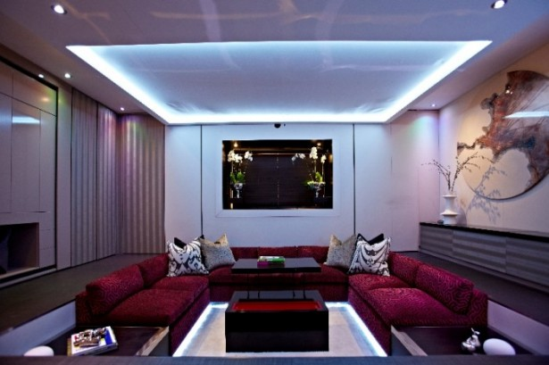 Modern Sitting Room Big Design In A Small Space Smart Lighitng