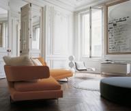 Modern Sofa Ideas For Orange Sofa Wooden Floor