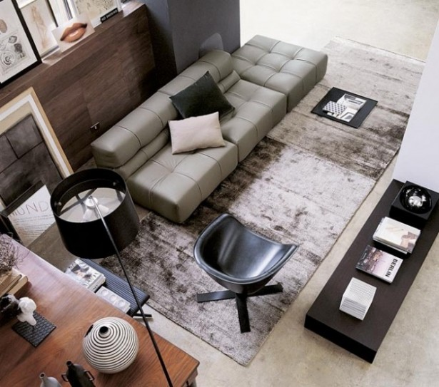 Modern Sofa Ideas Gray Living Room Dark Table