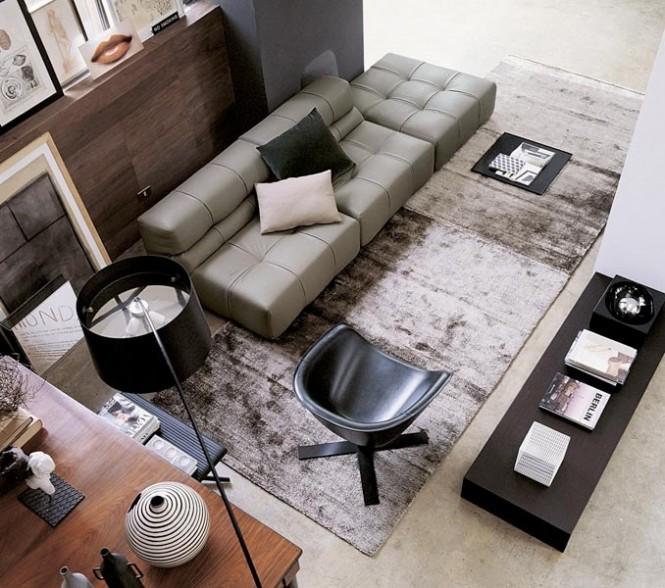 Modern Sofa Ideas Gray Living Room Dark Table