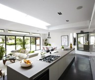 Modern Victorian Home For Kitchen And Living Room Grey Floor