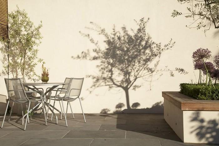 Modern Victorian Home Outdoor Living Room Grey Floor