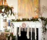 Natural Christmas Mantel Decor Mantel Decor Inspiration Unique Mural