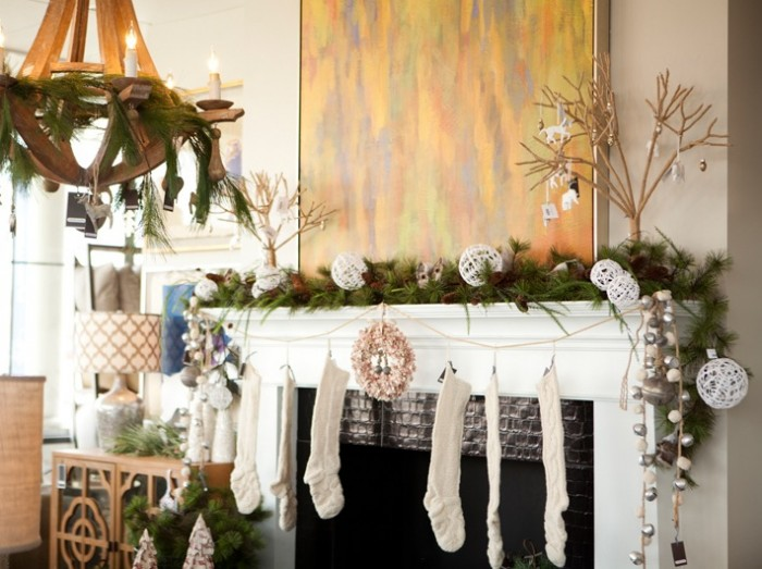 Natural Christmas Mantel Decor Mantel Decor Inspiration Unique Mural