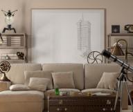Neutral Beige Velvet Sofa Contemporary Living Rooms Creame Sofa