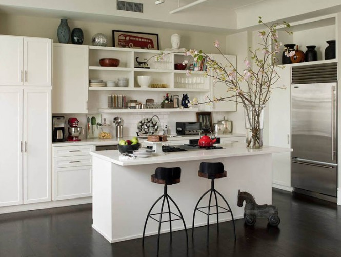 Remarkable White Open Shelves Kitchen Island 665 x 501 · 70 kB · jpeg