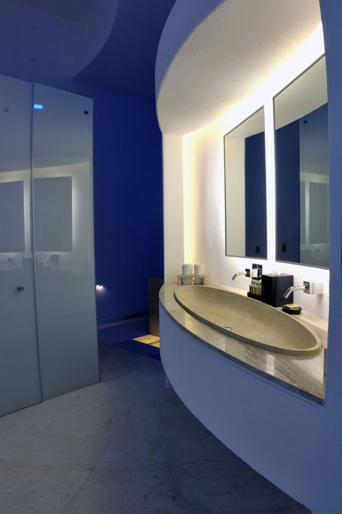 Oval Sink Bathroom Modern Glass Mirror Modern Hotel Encanto