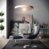 Reading Spaces Design  Black Leather Chair Footstool Unique Lamp