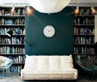 Reading Spaces Design  Built In Bookshelves Unique Lamp