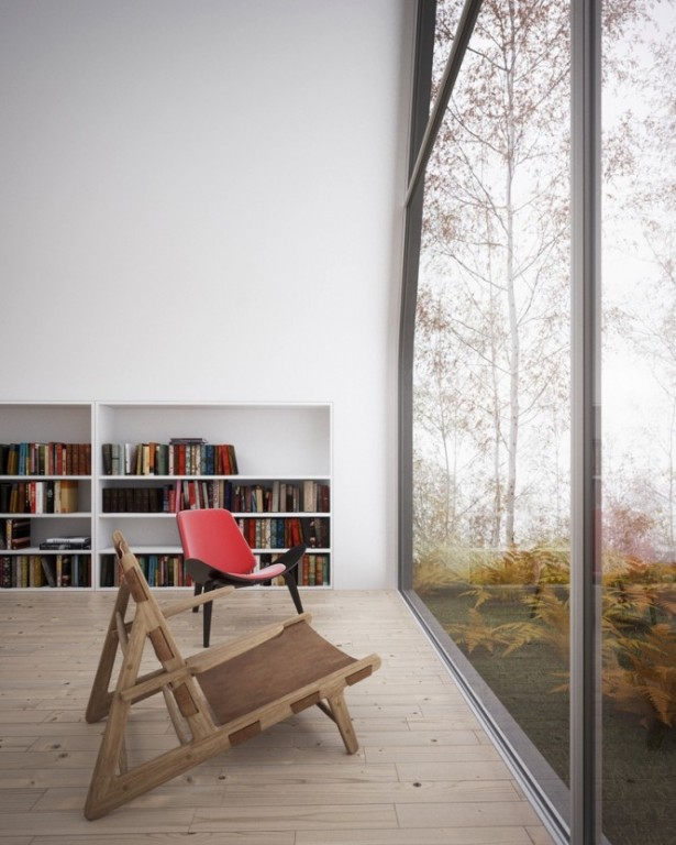 Reading Spaces Design  Home Library Glass Wall Ideas