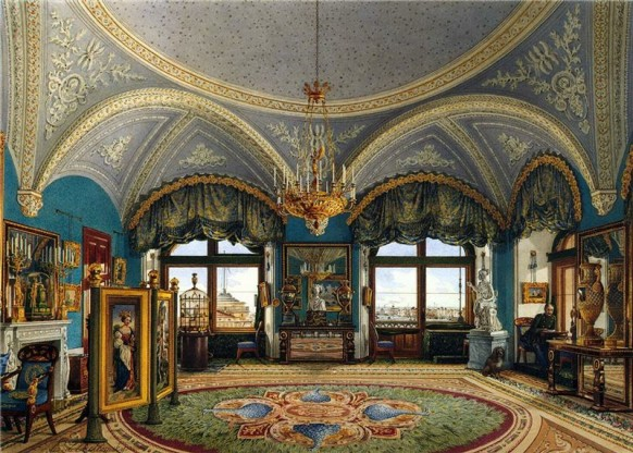 Reception Room Opulent Russian Palace Ornate Ceilings Ornate Opulence