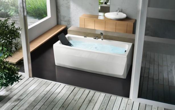 Rectangular Bathtub With Head Rest Beautiful Bathtubs Design