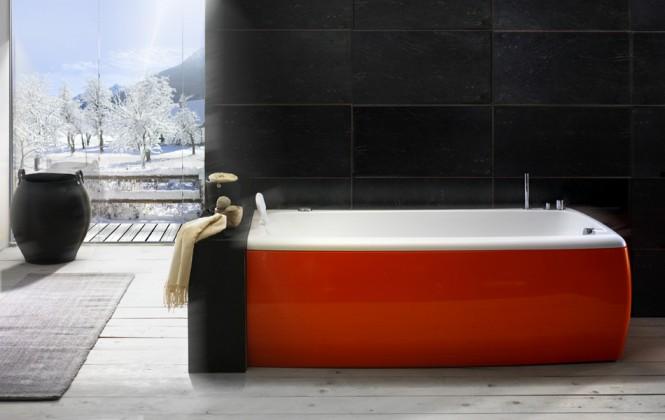 Red And White Bathtub Beautiful Bathtubs Design