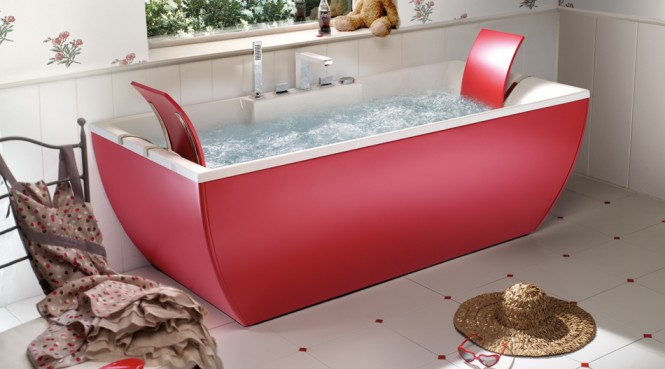 Red Bathtub Beautiful Bathtubs Design Ceramics Floor