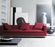 Red Sofa Modern Sofa Ideas Grey Wall