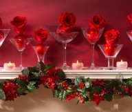 Rose Christmas Mantel Decor Mantel Decor Inspiration Pink Wall