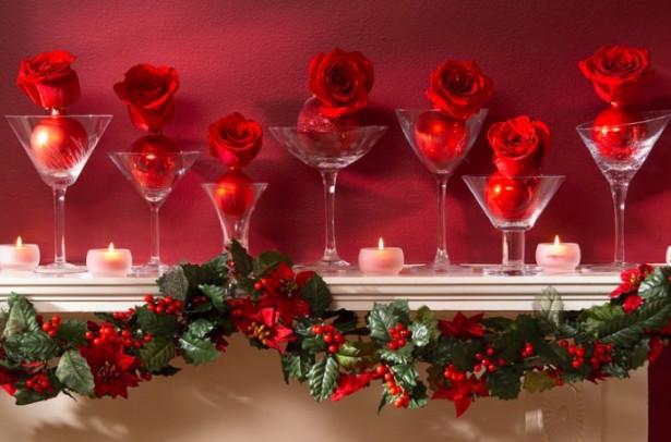 Rose Christmas Mantel Decor Mantel Decor Inspiration Pink Wall