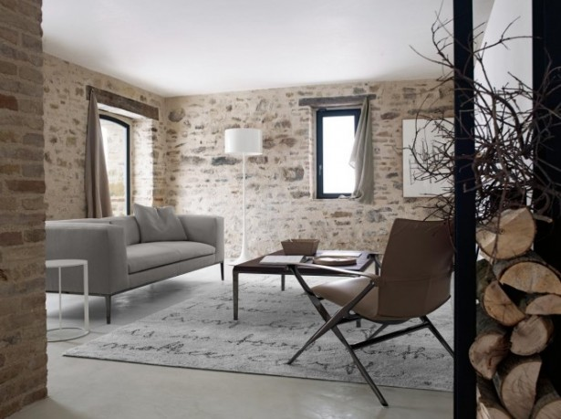 Rustoc Stone Wall Modern Sofa Ideas Brick Wall