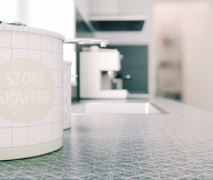 Scandinavian-Style-City-For-Kitchen-Worktop-Ideas