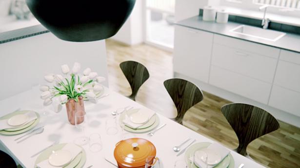 Scandinavian-Style-City-For-White-Kitchen-Diner-Design