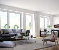 Scandinavian Style City For White Living Room Leather Couch