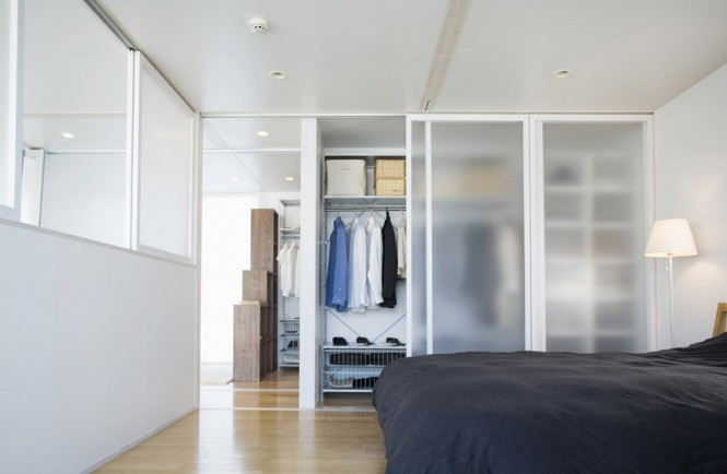 Simple Lamp Glass Wardrobes Minimalist Japanese Prefab