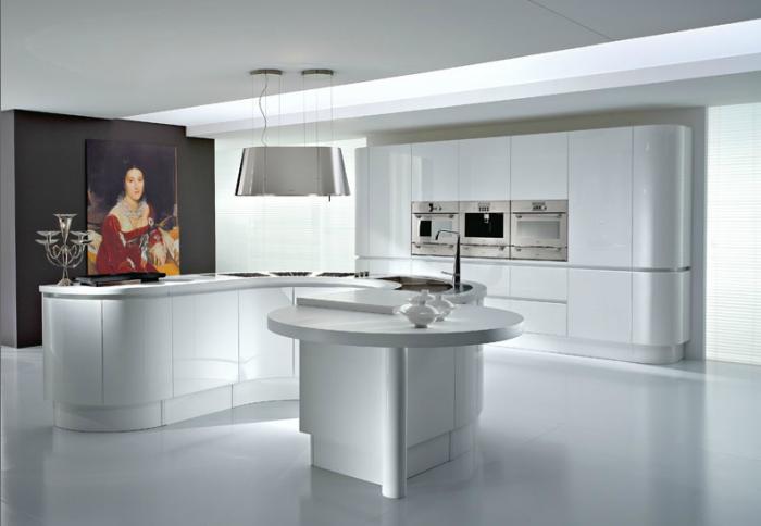 Sleek Modern Kitchen Kitchen Island Designs Unique Lamp
