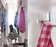 Small Space Living Closet Organisation White Wall