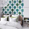 Small Space Living Green White Pillow Modern Bedroom Decor