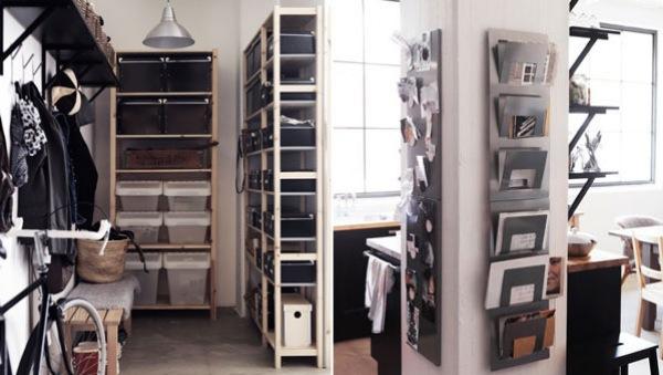 Small Space Living Storage Ideas Glass Window