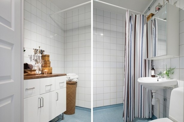 Small White Bathroom Design  White Heirloom Apartment Design